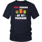 Stop Staring At My Package Funny Christmas T-Shirt