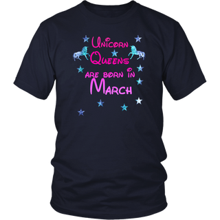 Unicorns are born in March - Birthday T Shirt Born in March