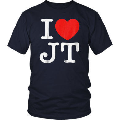 I Love JT Heart Funny JT Gift T-Shirt