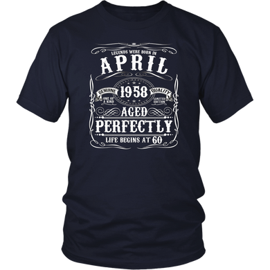 Funny 60th Birthday Legend April 1958 T-Shirt