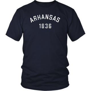 Retro Arkansas T Shirt / Vintage Arkansas Gifts Tee 80s 1836 Shirt