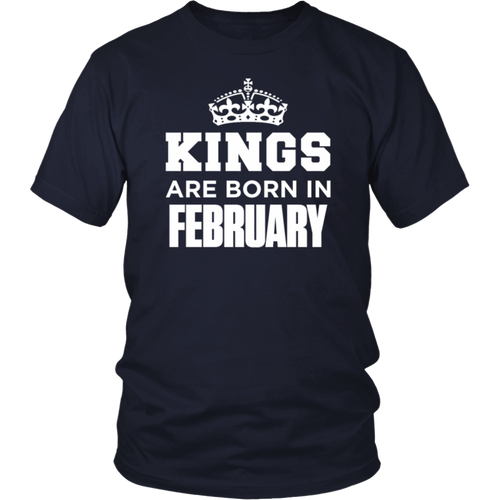 Tee Shirt Kings Are Born In February Tshirt