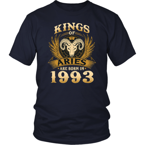 Kings Of Aries Are Born In 1993 T-Shirt 25th Birthday Gift