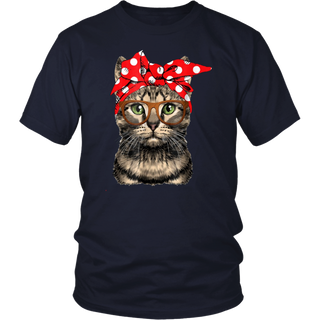 Cat Mom USA American Flag Women's T-Shirt in 4th of July