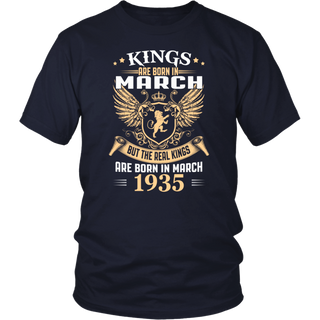 Kings Are Born In March - 1935 Birthday Gift T-Shirt