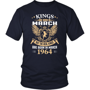 Kings Are Born In March - March 1964 Birthday Gift T-Shirt