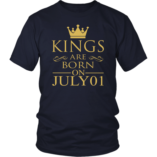 Kings are born on July 01 tshirt