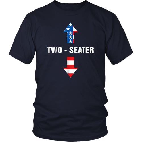 Two Seater Arrow Funny Gift Two-Seater T-Shirt