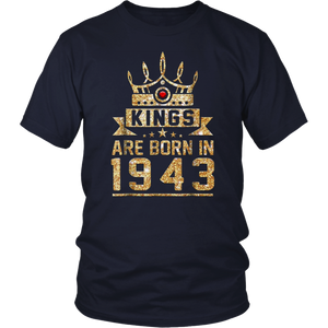 Kings born in 1943 75th Birthday Gift 75 years old awesome T-Shirt