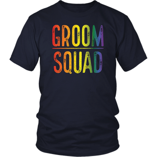 Mens Bachelor Party Shirt Groom Squad Gay Pride