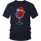Diamond Wine Glasses Santa Hat Xmas T-Shirt