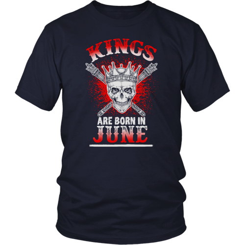 Birthday Gift Kings are Born in June Awesome T-Shirt