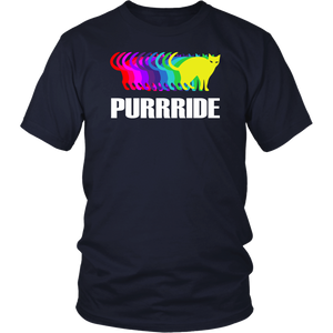 Gay Pride Cat Purride T-Shirt