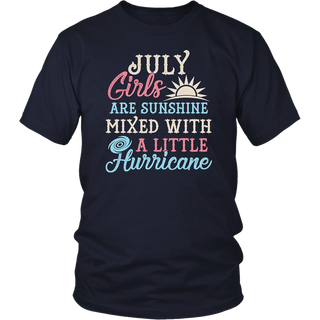 July Girls T-Shirt Funny July Facts Girl Sayings