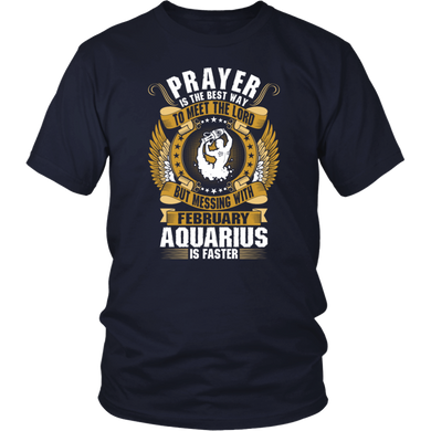Aquarius: Zodiac Sign Horoscope Birthday Gifts T-Shirt february