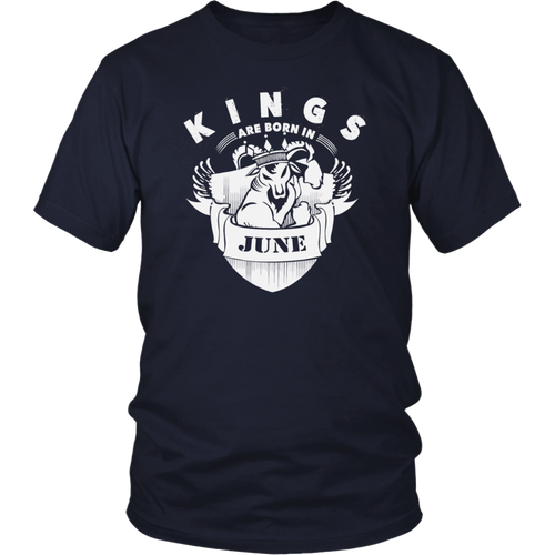 Kings Are Born In June T-shirt Birthday Gift Father Day Men