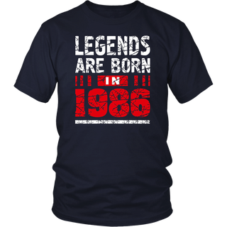 31th Years Old Shirt Gift - Legends Are Born In 1986 T-Shirt