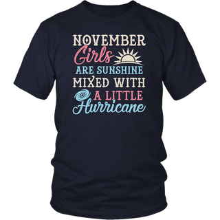 November Girls T-Shirt Funny November Facts Girl Sayings