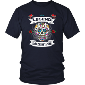 Sugar Skull Legends Are Born In 1996 - 21st Birthday Shirt
