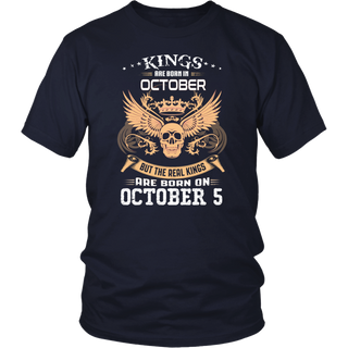 Real kings are born on October 5th T Shirt
