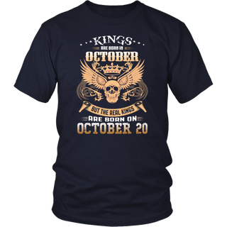 Real kings are born on October 20th T shirt