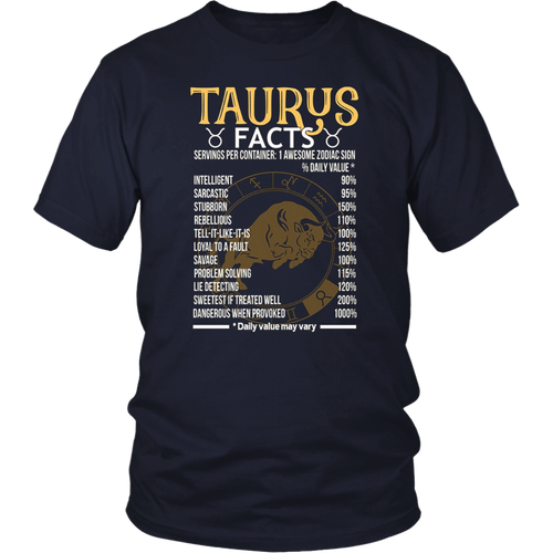 Taurus Awesome Zodiac Sign Taurus Facts T-Shirt