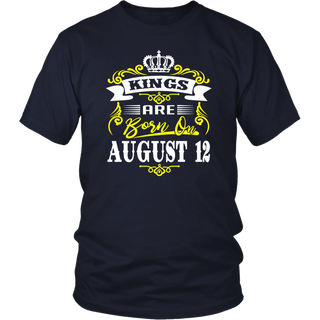 Kings Are Born On August 12 Birthday T-Shirt