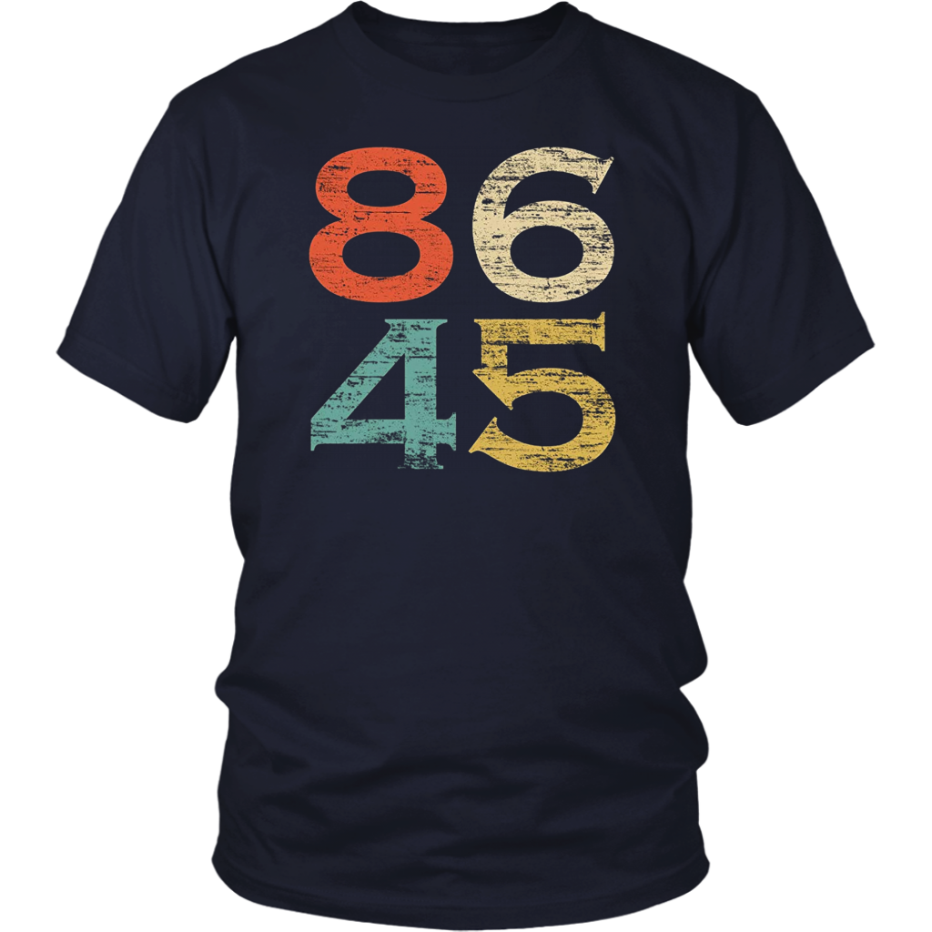 Classic Vintage Style 86 45 Anti Trump T-Shirt