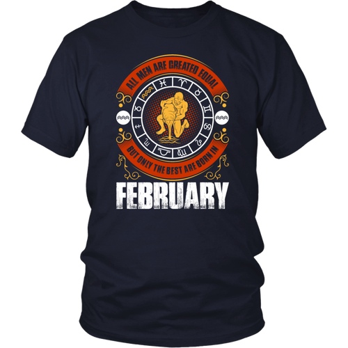 Mens The Best Dads Are Born In February Patriot TShirt Gift