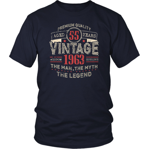Vintage Awesome Legends Born In 1963 Aged 55 Yrs Years Old T Shirt