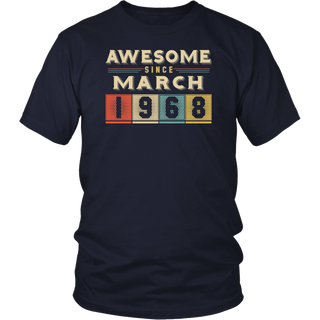 Retro Awesome since March 1968 50th Birthday Gift 50 years