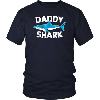 Mens Daddy Shark Shirt Funny Cute Father's Day Gift Idea for Dad tshirt