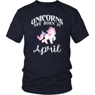 Unicorns Are Born In April - Unicorn Birthday T-Shirt