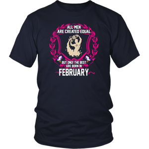 The Best Runners Are Born In February T-Shirt Running Sports