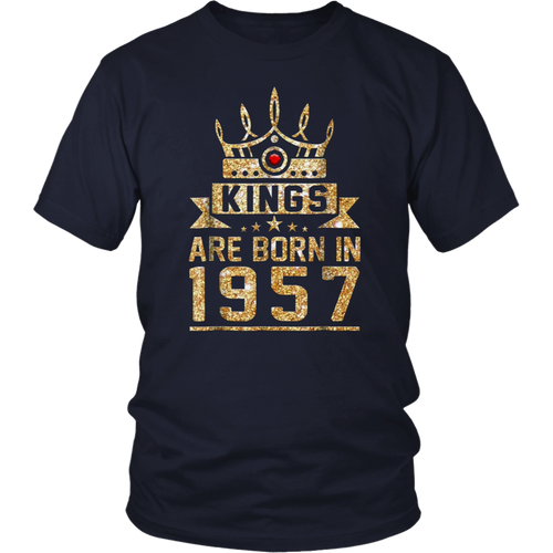 Kings born in 1957 61st Birthday Gift 61 years old awesome T shirt