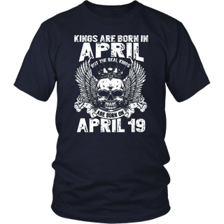 Real Kings Are Born On April 19 T-Shirt Legend Aries Taurus