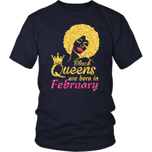 Black Queen Are Born In February Shirt V2018