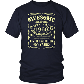 50 th Birthday Shirt 50 Happy Fifty Years Old 1968 Gift