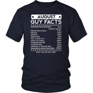 Mens August Guy Facts T-shirt