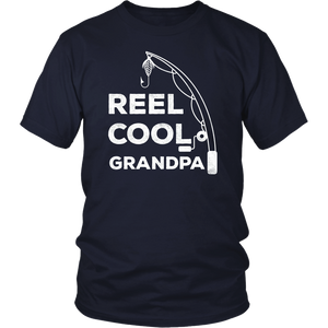 Mens Reel Cool Grandpa T-Shirt Fishing Dad Father's Day Gift