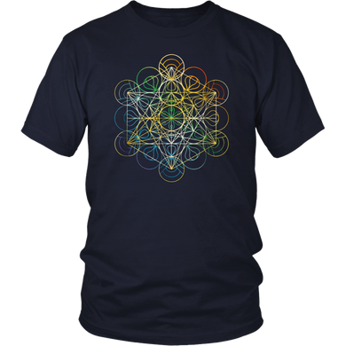 Sacred Geometry Shirt Chakra Colors T-Shirt