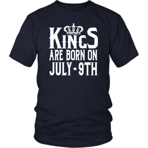 Kings Are Born On July 9th Funny Birthday T-Shirt