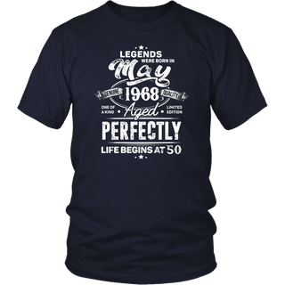 Legends Were Born In May 1968, 50th Birthday Gift Shirt