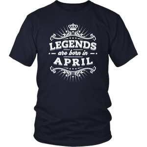 Legends Are Born in April T shirt, Birthday Gift T Shirt