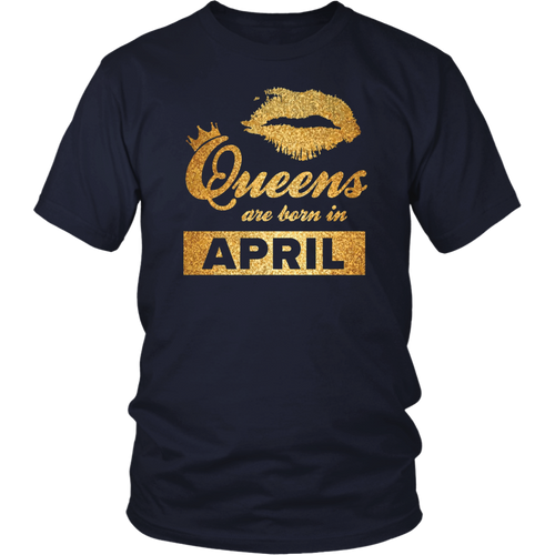 Black Queens are Born in April T-Shirt April Birthday Girl