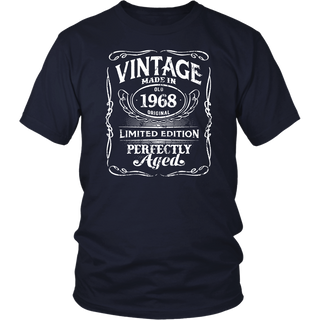Vintage Premium Made In 1968 T-Shirt 50th Birthday Gift