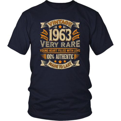 Vintage Authentic Made In 1963 55th Birthday Gifts 55 years T-Shirt