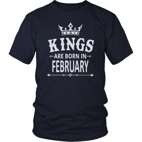 Kings Are Born in February T shirt Birthday Gift