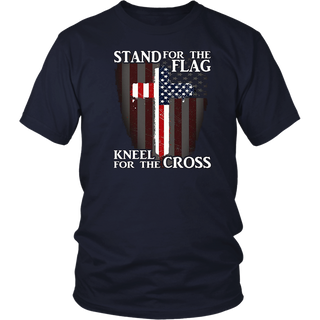 Stand For The Flag Kneel For The Cross Patriotic T-Shirt