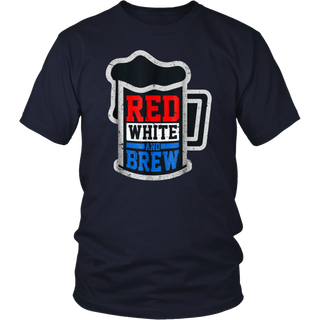 Red White And Brew Shirt - Funny 4th Of July Party Gift Men T-Shirt